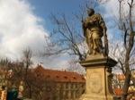 Estatua en el Puente de Praga