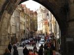 Entrada al Barrio de Malastrana desde el Puente de Praga