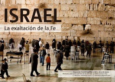 Lorenzo Diaz, cartel de la exposición Israel, la exaltacion de la fe