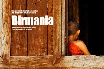 Lorenzo Diaz, cartel de la exposicion Sonrisas de Birmania