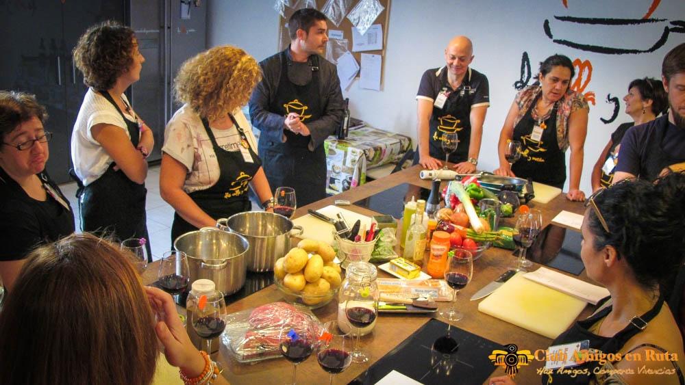 El comienzo del Taller de Cocina es siempre un momento de gran concentración.