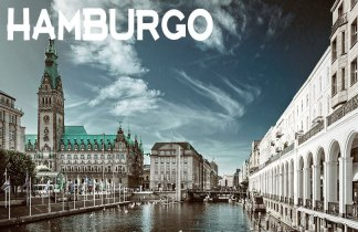 Fin de año a orillas del rio en Hamburgo