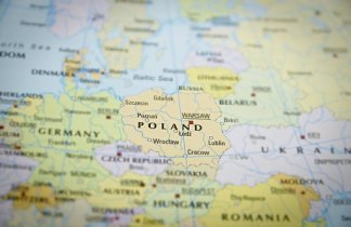 Invierno en las capitales de Polonia