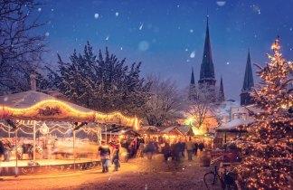 Mercadillos de Navidad en Munich, Puente de la Constitucion